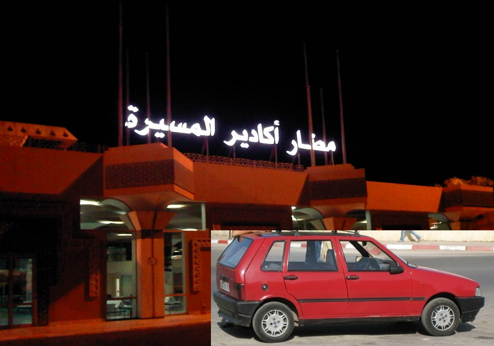 أكادير : الوزير الوردي يستقل سيارة الاجرة من مطار اكادير