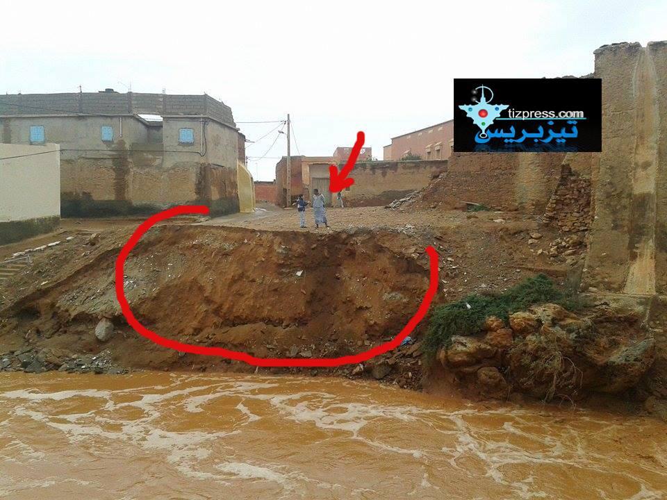 أكلو : تخوفات من إرتفاع منسوب المياه في واد « أدودو »