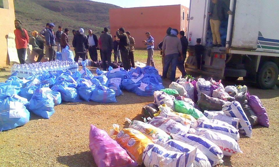 سيدي إفني : تقرير المحطات الثلاث لعملية توزيع المساعدات على منكوبي الفيضانات
