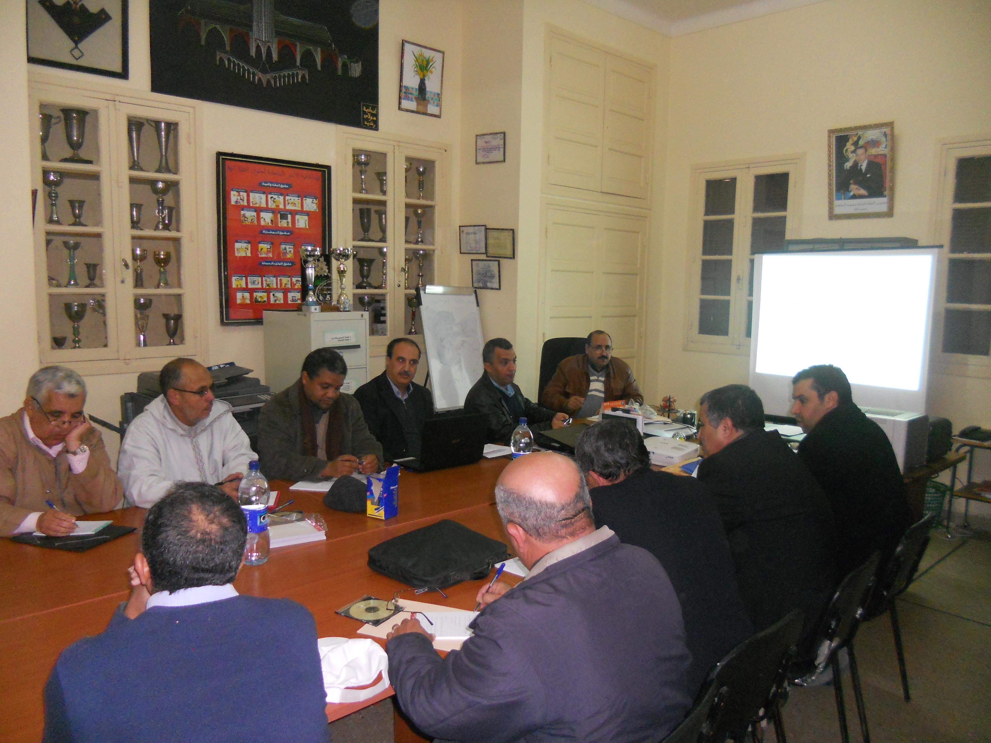 اختتام اللقاءات التواصلية مع رؤساء المؤسسات التعليمية حول مشروع المؤسسة بنيابة تيزنيت
