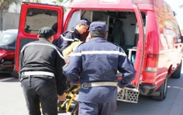 إصابة سائق دراجة نارية بجروح خطيرة في حادثة سير برسموكة