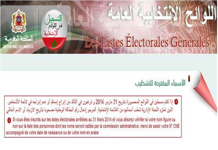 """وزارة الداخلية تنشر قائمة """"المشطب عليهم"""" من اللوائح الانتخابية"""