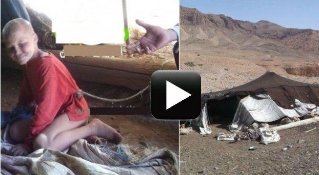 بالفيديو: أب يربط طفلتين معاقتين بالحبل داخل خيمة بميدلت