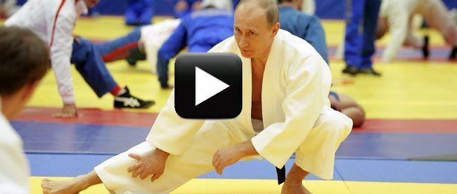 بالفيديو: فتاة تطرح بوتين أرضا!