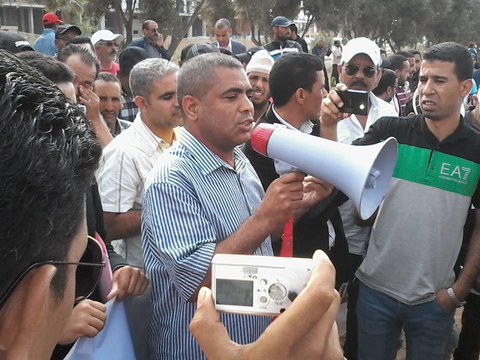 أكادير: وقفة احتجاجية أمام ورش العمارة المنهارة