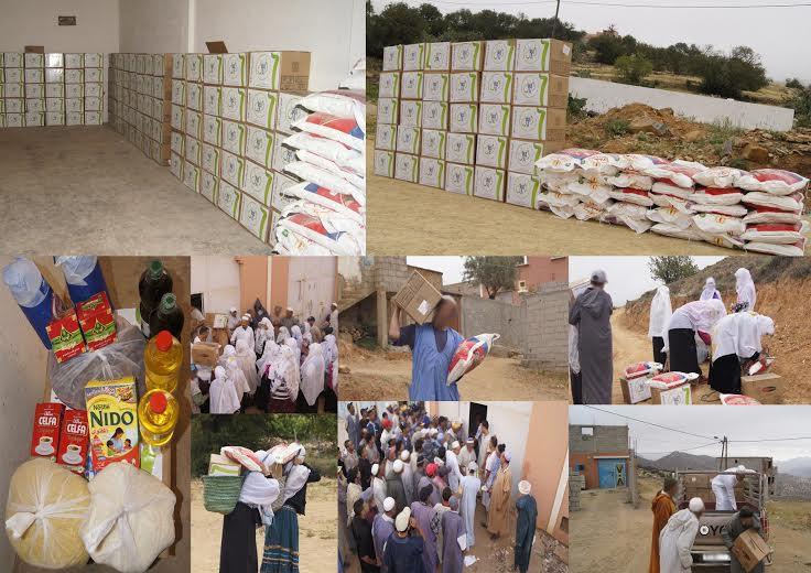 أنزي : توزيع هدايا وقفف رمضان لفائدة الأسر  المعوزة