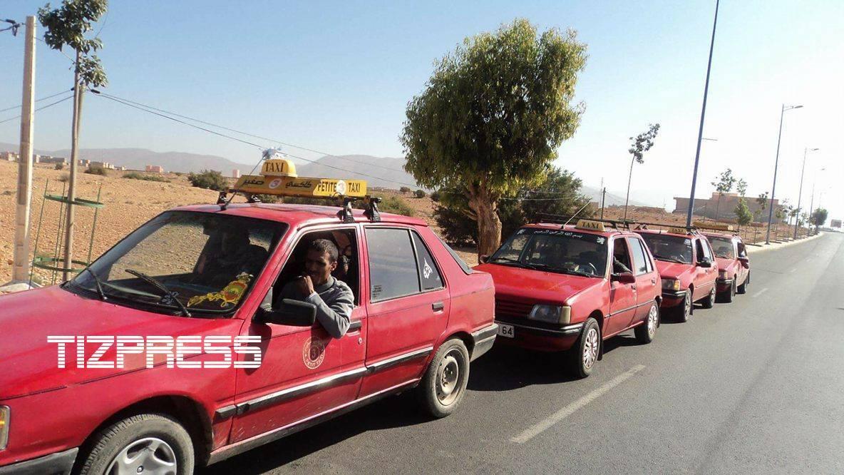 كلميم: سائقوا سيارات الأجرة الصنف الثاني يشتكون من الفوضى التي تلازم القطاع ببويزكارن