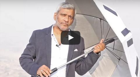 """شركة سعودية – فلسطينية تبتكر مظلة للحجاج مزودة بمروحة و """"GPS"""" وشاحن للهاتف"""