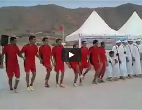 تافروات الملود  : شاهد رقصة لاعبي فريق كروي على نغمات رقصة أحواش