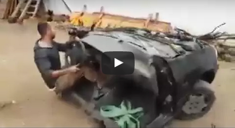 بالفيديو : لن تصدق ..شاب من العرائش يقود نصف سيارة