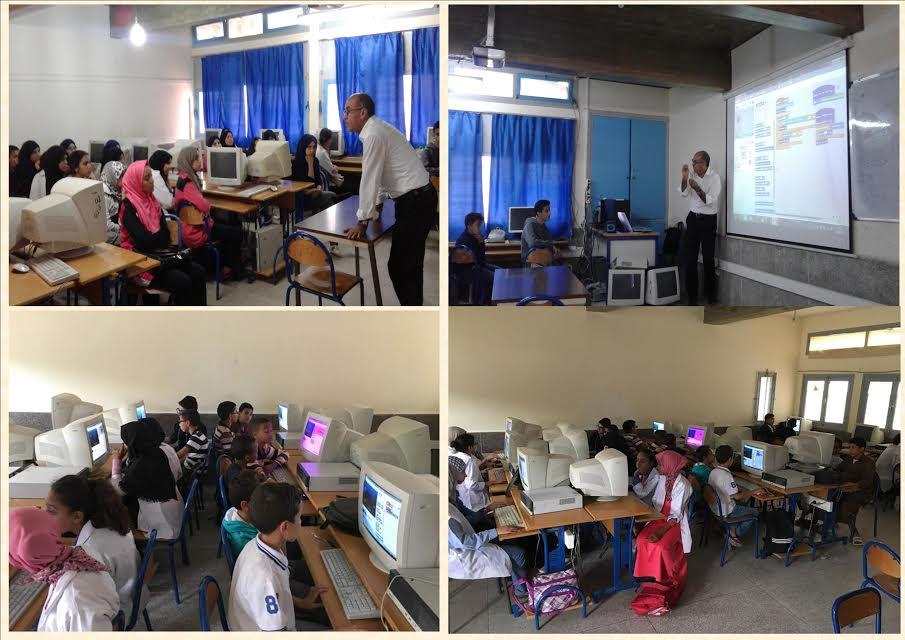 تيزنيت :المؤسسات التعليمية تنخرط بفعالية في أسبوع البرمجة الإفريقي Africa code Week 2015 باستعمال برنام سكراتش