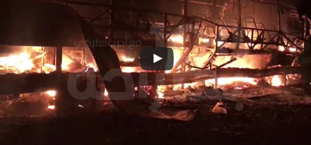 بالفيديو.. مصرع 11 أشخاص حرقا وإصابة 23 آخرين جراء حادثة سير بأمسكروض