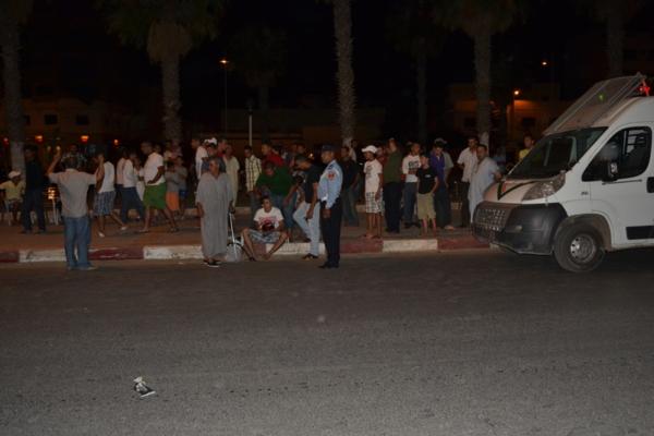 تيزنيت : مقاتلة للتهريب تخلق الرعب وسط المحتفلين برأس السنة الأمازيغية وتصدم سيارات قبل الفرار