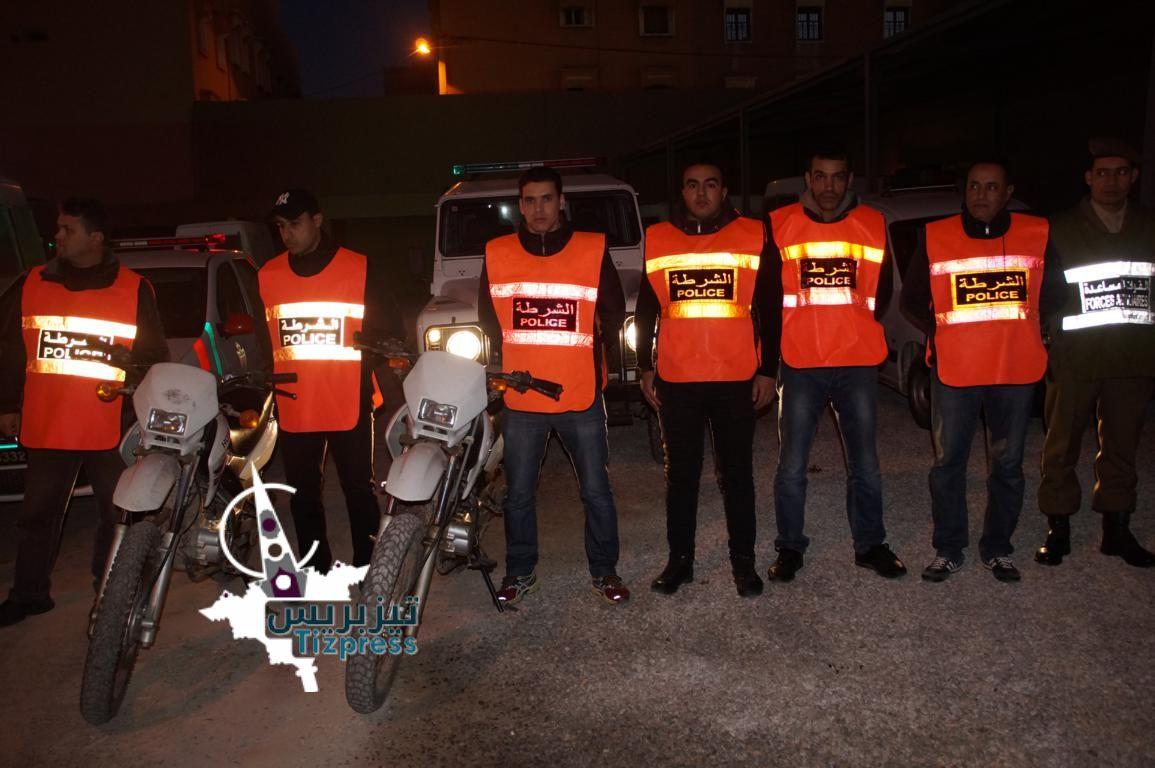 تيزنيت :إعتقال 15 شخصا في حملة أمنية ليلية بشوارع المدينة