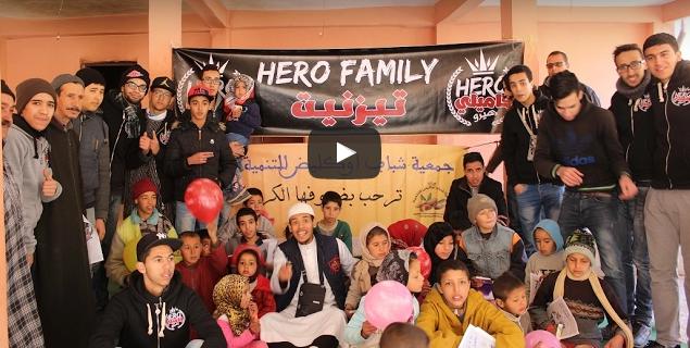 """بالفيديو : هيرو فاميلي تيزنيت في حملة تضامنية لفائدة ساكنة """"دوار أوكليض"""" بأفلا اغير بتافراوت"""
