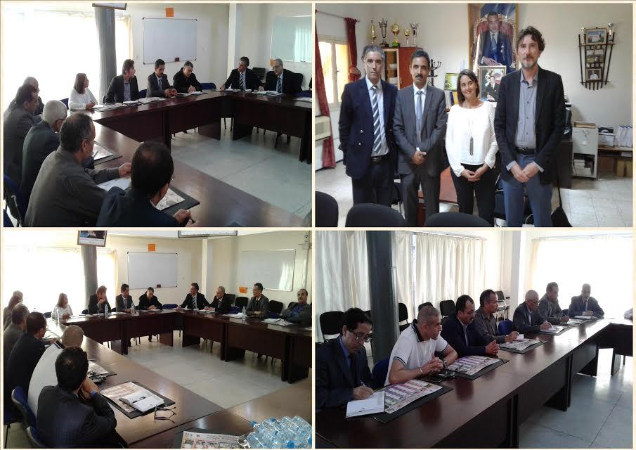 أطر من المعهد الفرنسي بأكادير IFA في زيارة عمل للمديرية الإقليمية بتيزنيت