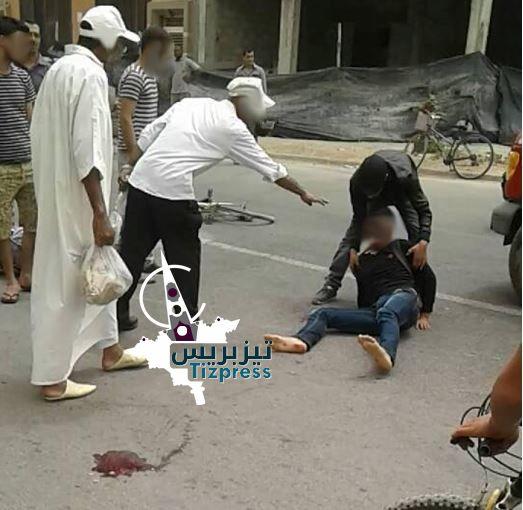 قتيل و مصابين في اصطدام دراجتين وسيارة قرب ista تيزنيت