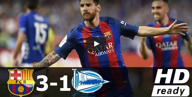 بالفيديو : برشلونة ينهي مغامرة آلافيس ويتوج بلقب كأس ملك إسبانيا