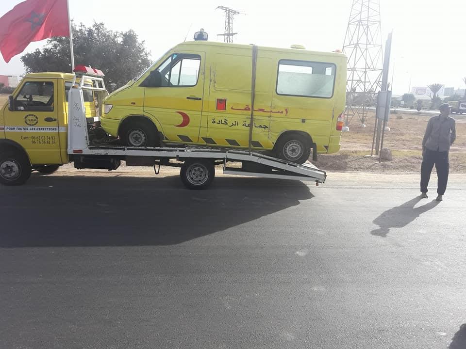 رئيس جماعة الركادة : من المسؤول عن حادثة سيارة إسعاف الجماعة ؟؟؟