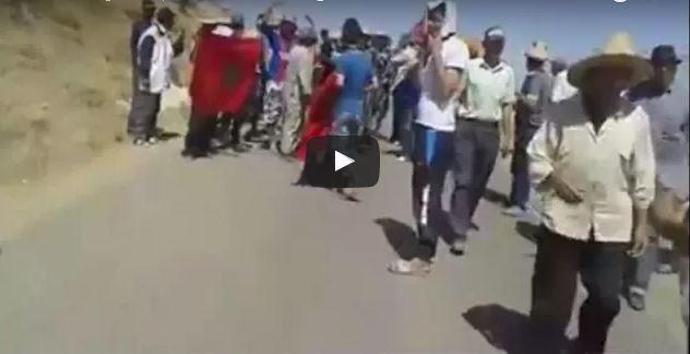 العطش يخرج سكان جماعة ونانة بإقليم وزان في مسيرة العطش