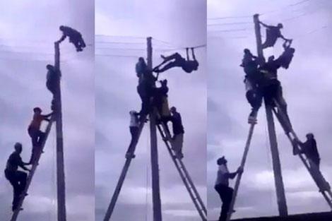 أكادير: بالفيديو ..لص يحتمي بالأسلاك الكهربائية هربا من المواطنين