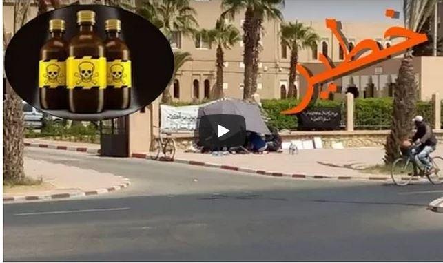 """فيديو : بائع متجول بتيزنيت يُهدد بــ """" الإستشهاد """" بتناول السم الأسبوع المقبل احتجاجا على عدم تشغيله"""