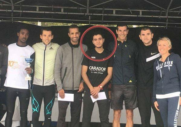 عداء من نادي الاتحاد الرياضي أمل تيزنيت لالعاب القوى يحتل المرتبة السادسة في سباق بمدينة Rouen الفرنسية
