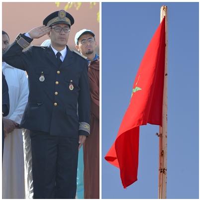 رسموكــــة.. مراسيم تحية العلم الوطني المغربي للذكــرى 62 لعيــد الاستقـــــلال
