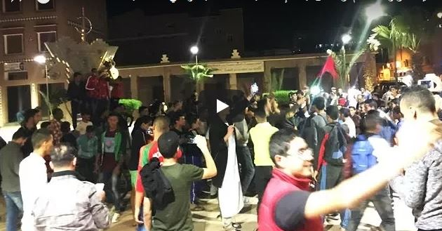 فيديو ..تأهل المنتخب المغربي لنهائيات كأس العالم 2018 …لحظة تاريخية بتافراوت
