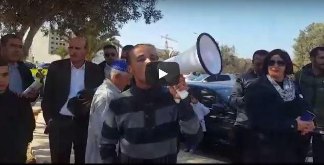 """ضحايا """"مافيا العقار"""" يحتجون أمام استئنافية أكادير"""