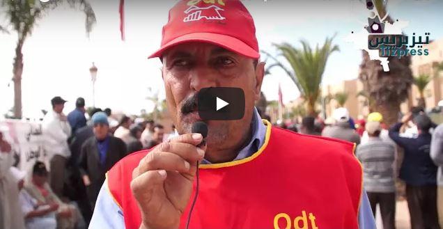"""فيديو : """"نظام المأذونيات"""" يُفيض كأس مهنيي سيارات الأجرة بتيزنيت"""