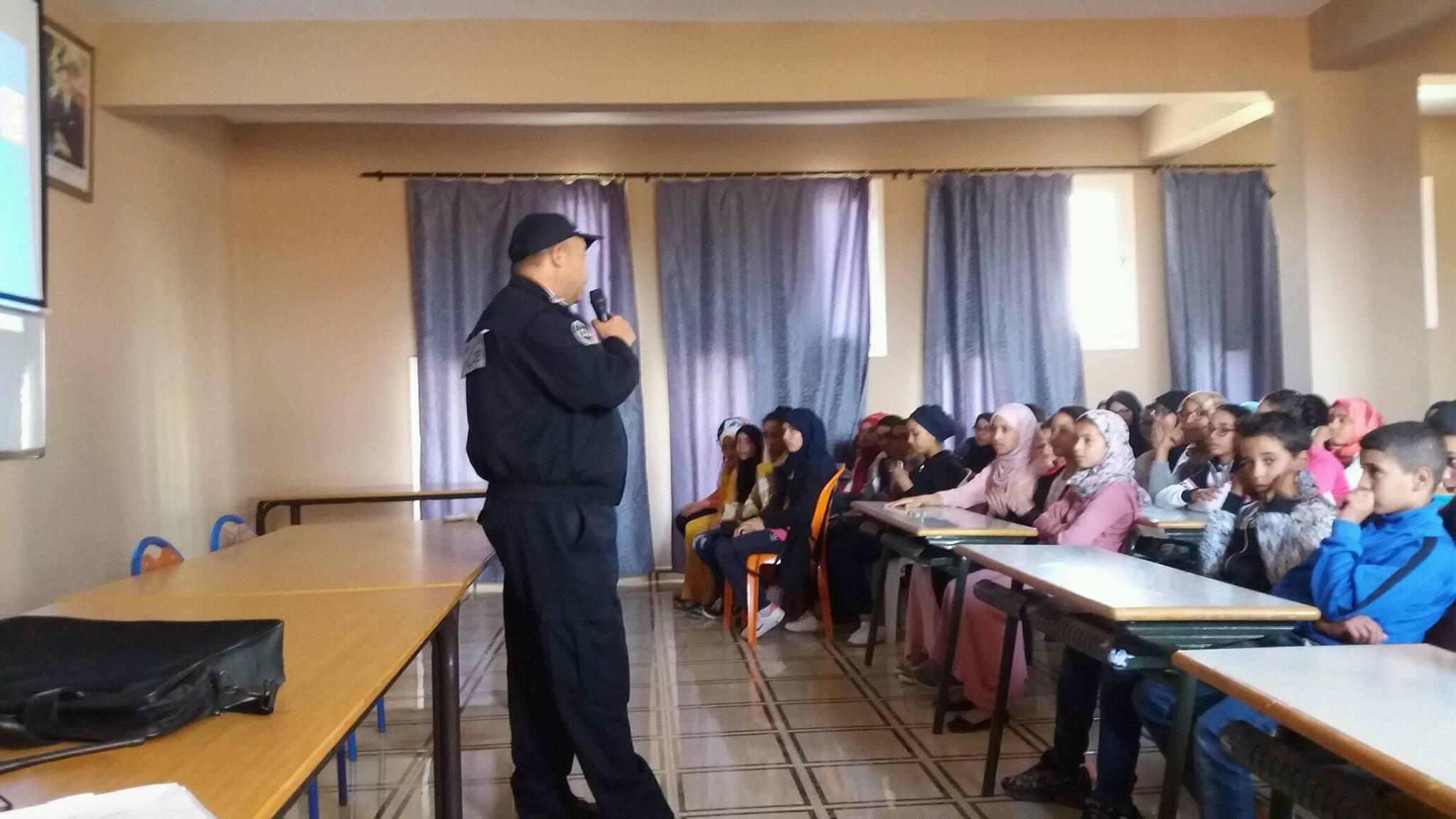 تيزنيت : ثانوية النور الاعدادية تحتضن حملة تحسيسية حول العنف المدرسي