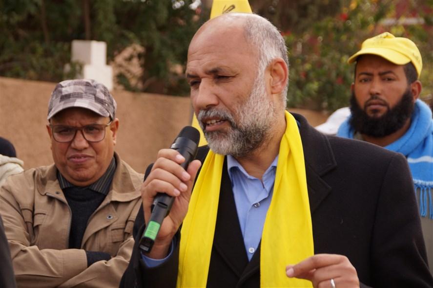 عبد الحق حيسان البرلماني الكونفدالي يحل ضيفا على تيزنيت في القافلة التضامنية للكدش
