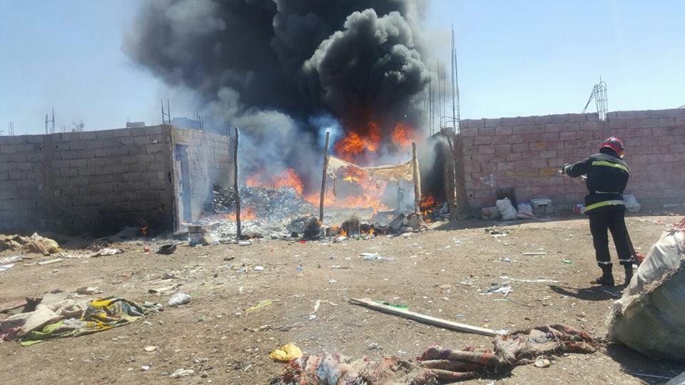 اندلاع حريق قرب مطرح النفايات بتيزنيت