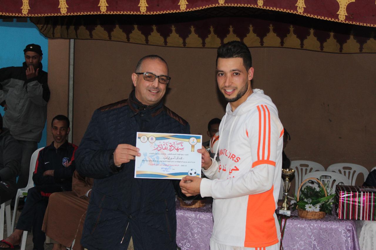 تيزنيت :  فريق سبورتينغ تمدغوست يُتوج بطلا  لدوري رمضان المُنظم بحي تمدغوست
