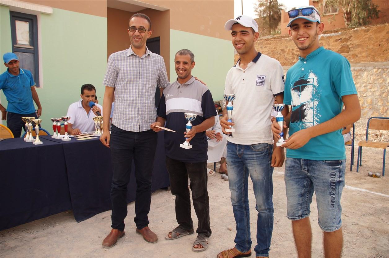 """رسموكة: ثلاثية """"مبارك العبدلاوي""""رفقة الأخوين """"الباهي"""" من نادي """" USAT """" تفوز بالجائزة الأولي للدوري السنوي لمهرجان الدلاح للكرة الحديدية"""