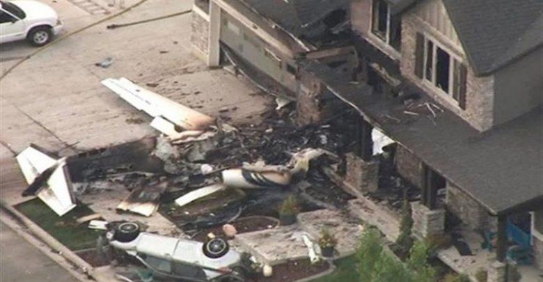 بالفيديو ..أمريكي ينفذ هجوما على منزله  بطائرة