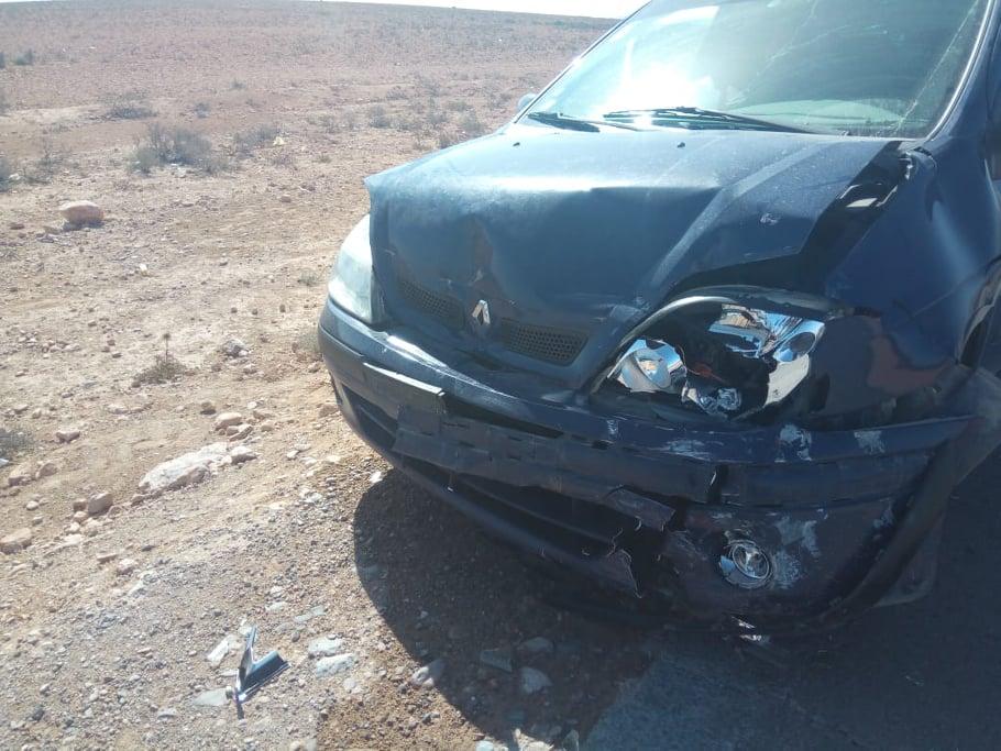 أولاد جرار: بالصور ..خسائر مادية جراء إصطدام 5 سيارات في حادثة سير بين تزنيت وجماعة الركادة