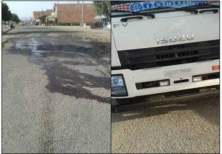 أولاد جرار : تحرير مخالفة ضد سائق شاحنة لنقل الاسماك أغرق ودادية الخير بالمياه الكريهة