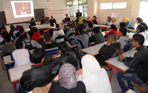 انطلاق المرحلة الثانية للحملة التحسيسية حول الأمن بالوسط المدرسي بنيابة انزكان أيت ملول