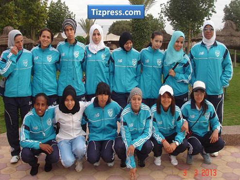 فريق أمل تيزنيت فرع  كرة القدم  النسوية يستقبل أمل  الدشيرة في  مباراة  الصعود