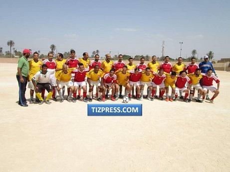 مقابلة ودية بين قدماء لاعبي اتران تيزنيت وقدماء اتحاد تارودانت في كرة القدم