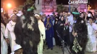 رقصة بوجلود بمهرجان تيفاوين