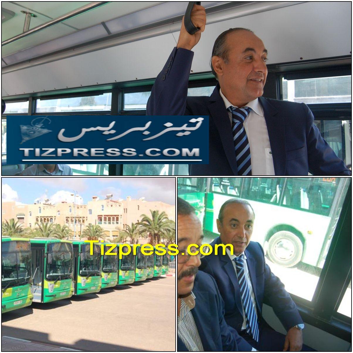 عامل إقليم تيزنيت يعطي إشارة انطلاق الدفعة الأولى من حافلات LUX TRANSPORT بتيزنيت ( صور + فيديو )