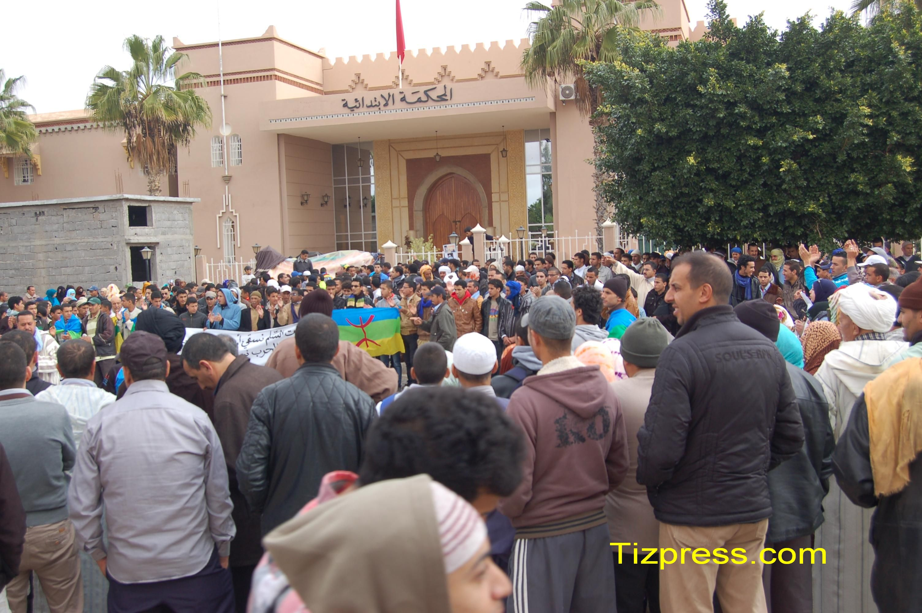 """قافلة """"الكرامة"""" من كل مناطق الجنوب في اتجاه الرباط للاحتجاج على عصابات شهود الزور ومافيا العقار"""