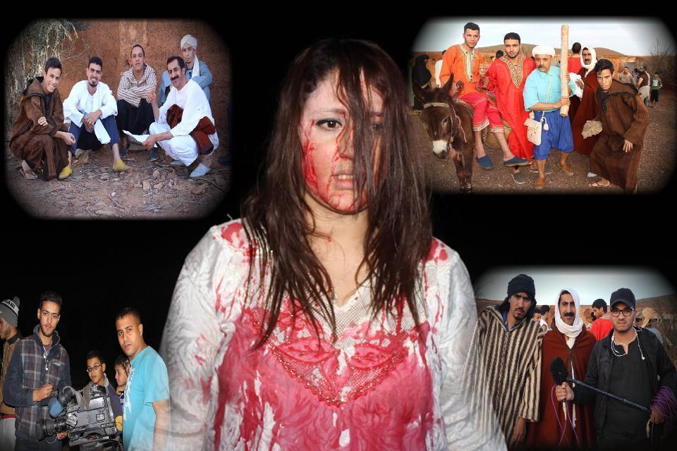 """بالصور : لقطات من مشاهد تصوير الفيلم  القصير """"المرجومة """" بأحد دواوير جماعة رسموكة"""