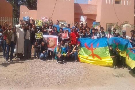 """اشتوكة : ناشطون ينددون بتخريب حرف أمازيغي بـ""""آيت ميلك"""""""