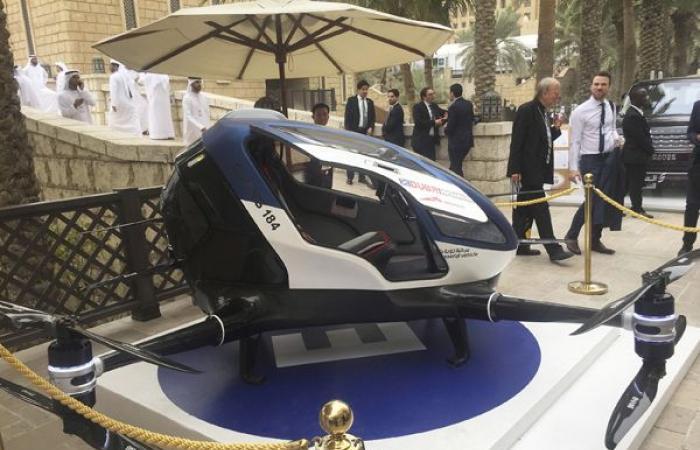 دبي تطلق التاكسي الطائر في يوليو القادم