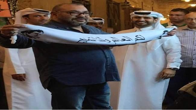 مستشار ملكي : صورة الملك في قطر مفبركة