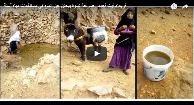 أربعاء أيت أحمد : صرخة مُؤثرة لنسوة يبحثن عن الماء الشروب في مستنقعات مياه آسنة